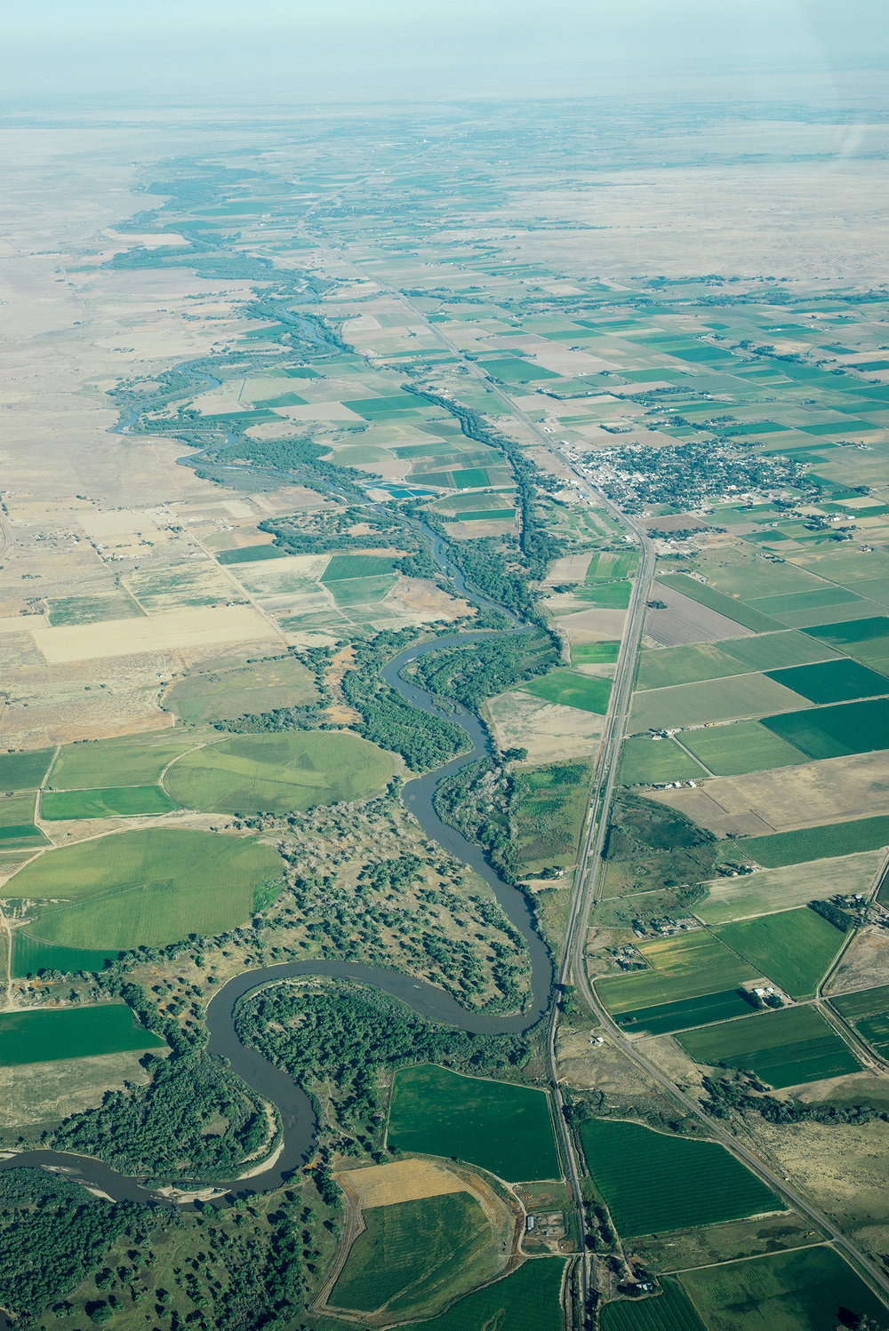 River Landscapes From The Air