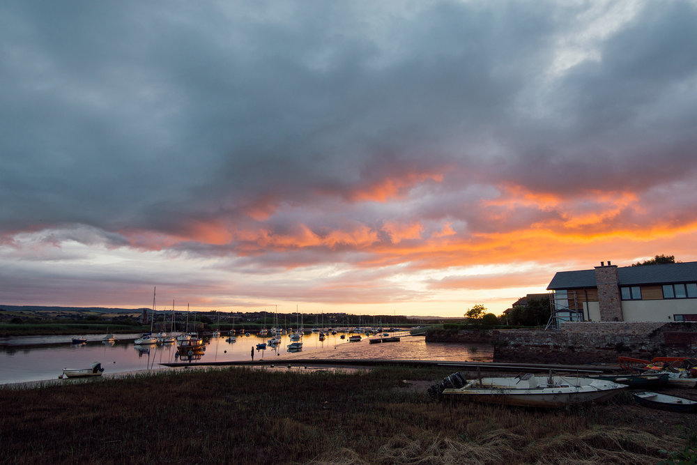 Sunset On The River Exe In Topsham