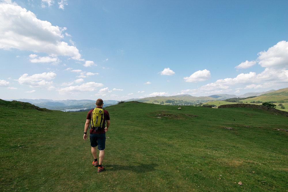 Hiking Windermere, Lake District, United Kingdom
