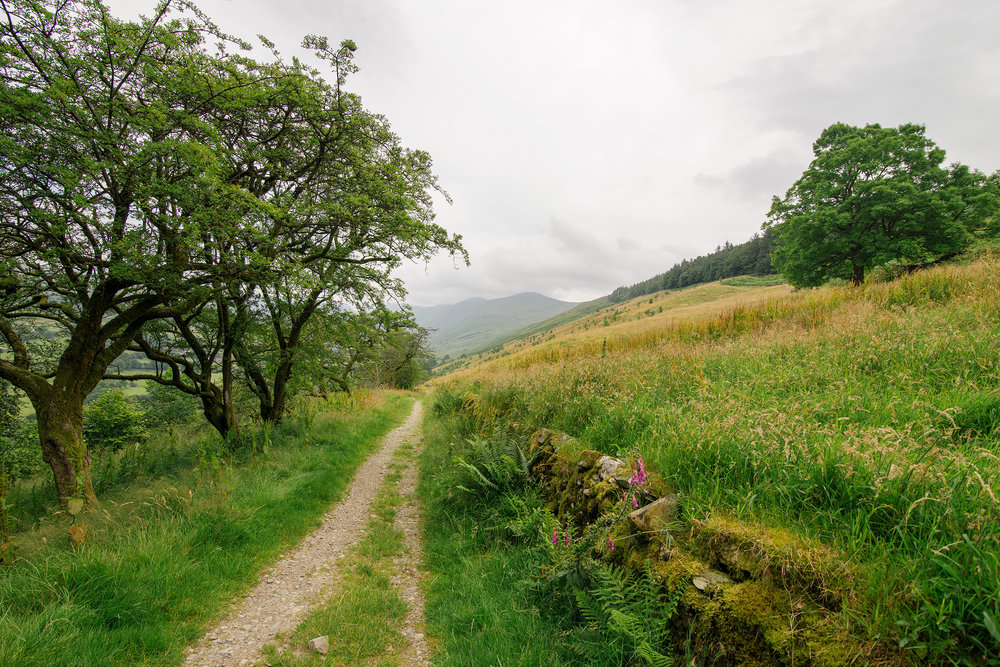 Hiking near Troutbeck, Lake District, United Kingdom