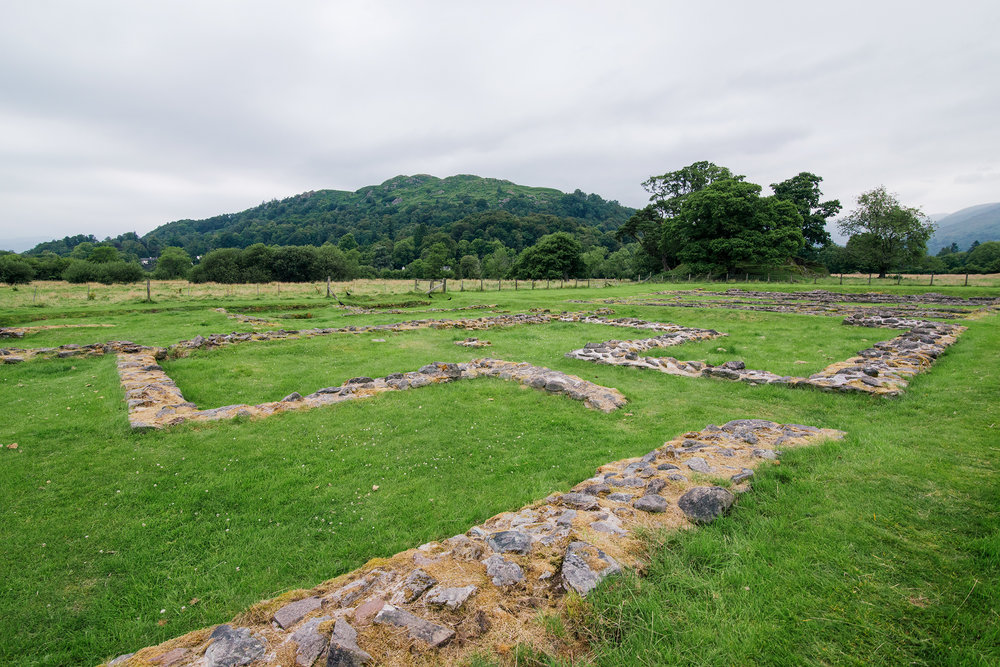 Roman Ruins In Ambleside, Lake District, United Kingdom