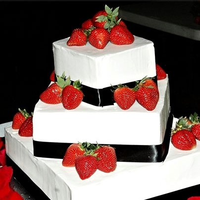 Strawberries on a wedding cake
