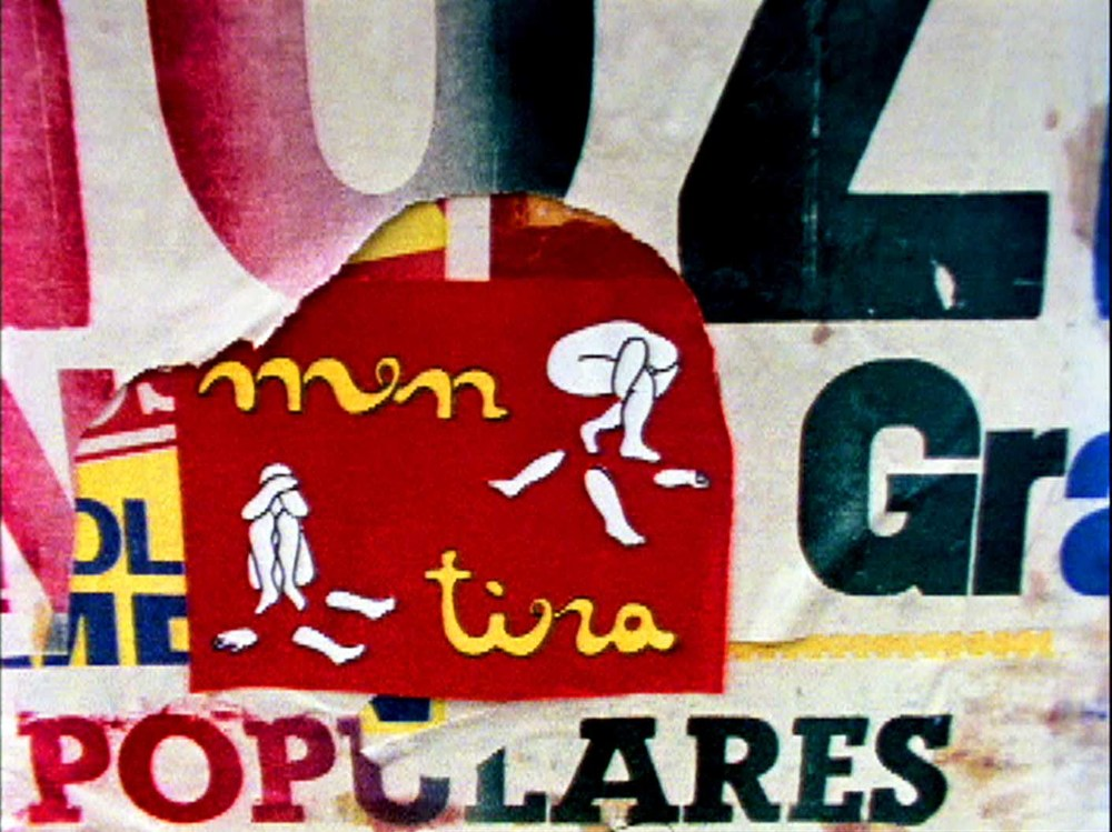 Film Still from the movie Palabrarmas by Cecilia Vicuña, Bogotá, Colombia, 1980