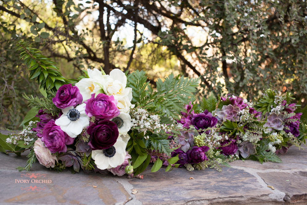 wedding bouquets with bridesmaids bouquets