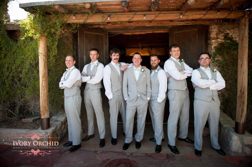 Wedding photos of groomsmen