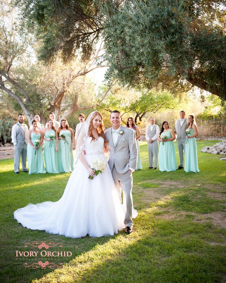 bridal party at wedding