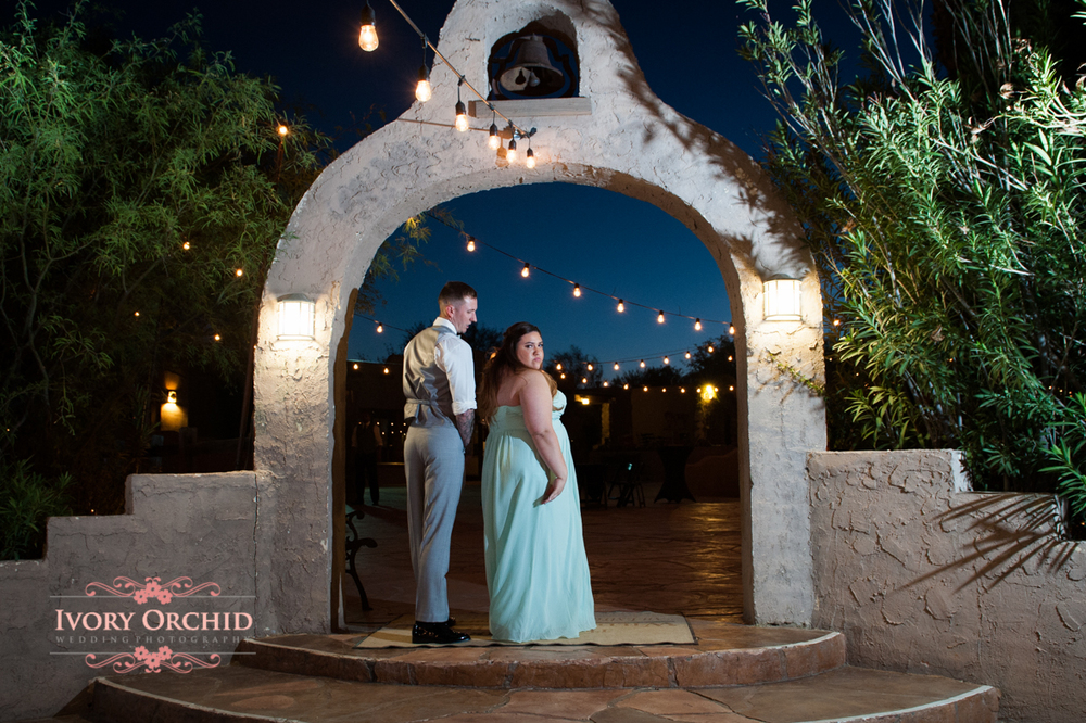 Entrance to the wedding reception