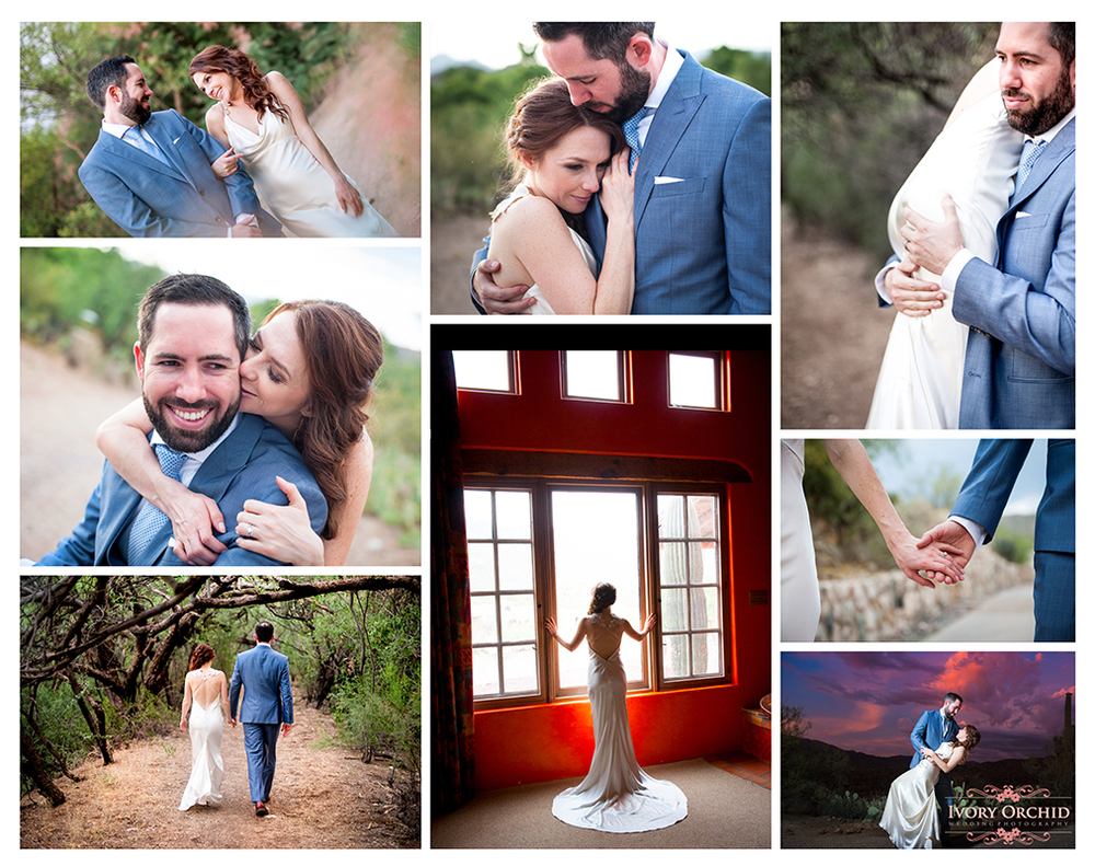 Tanque Verde Ranch Wedding Photography Collage
