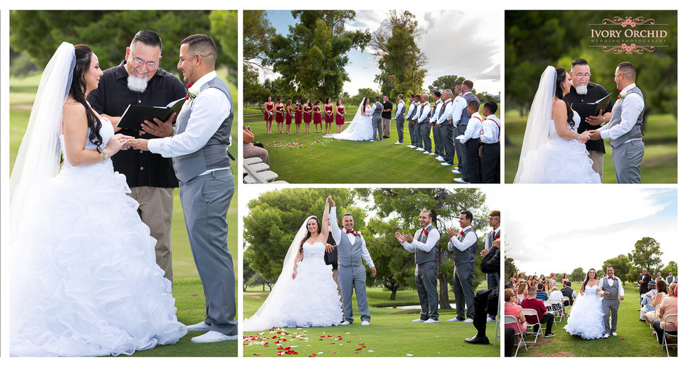 Wedding Ceremony photos at Randolph Golf Course