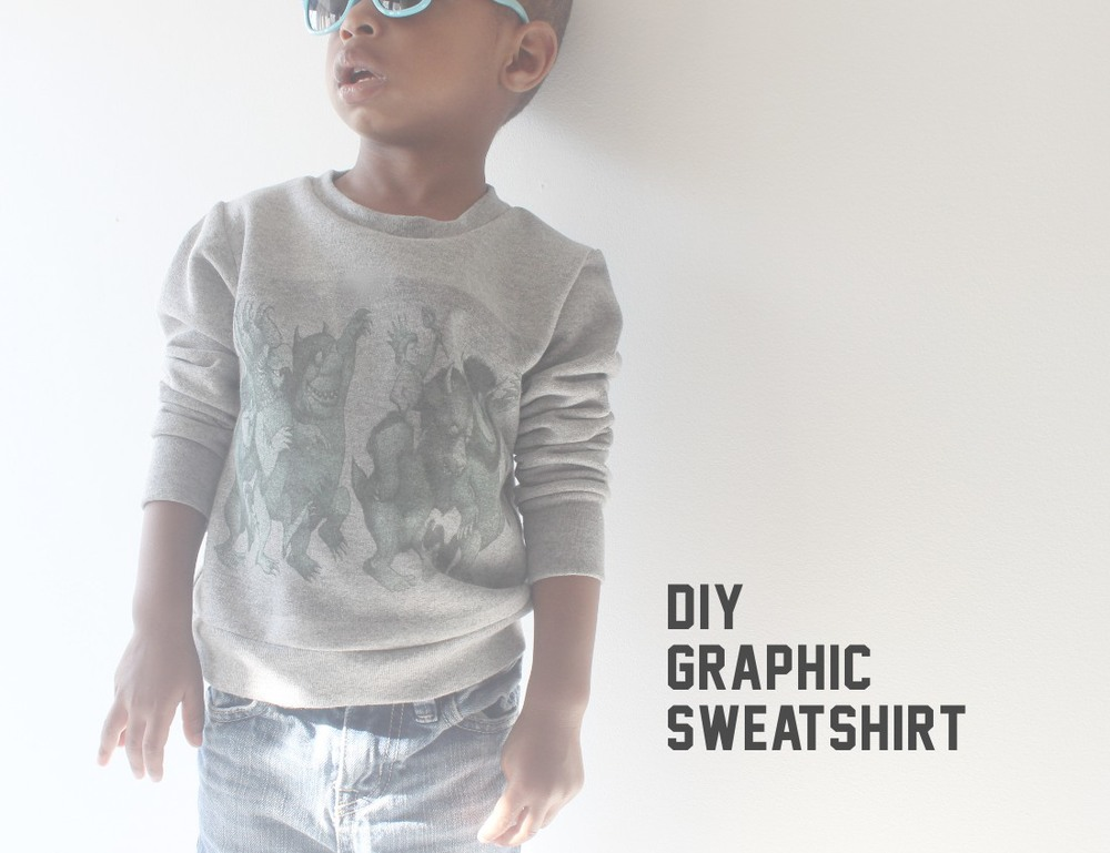 graphic sweatshirt by mingo and grace