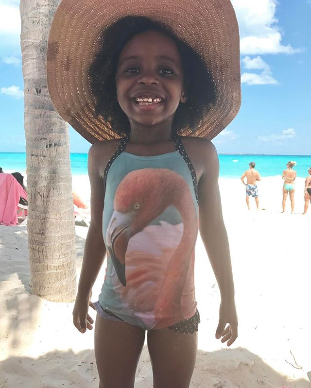 Beach Baby. Flamingo swimsuit by #chelisepattersonswim hat by #target