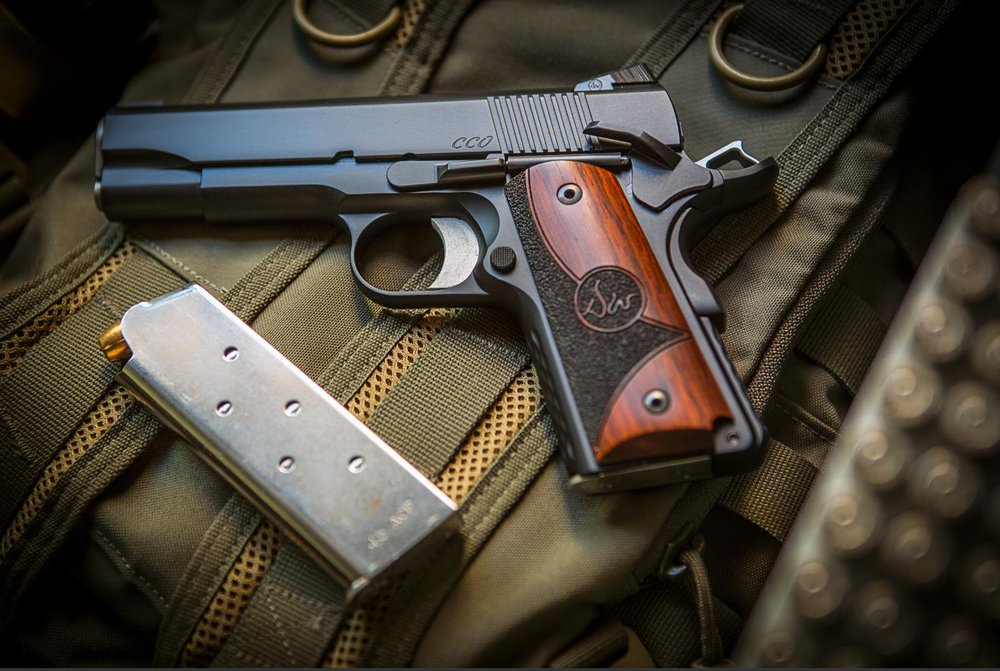 Dan Wesson CCO 1911 (.45ACP) - Photo by Pillar Media Group http://cz-usa.com/product/dw-cco-45-acp-black-officer-alloy-frame-commander-slide-3-dot-tritium-sights-7-rd-mags/