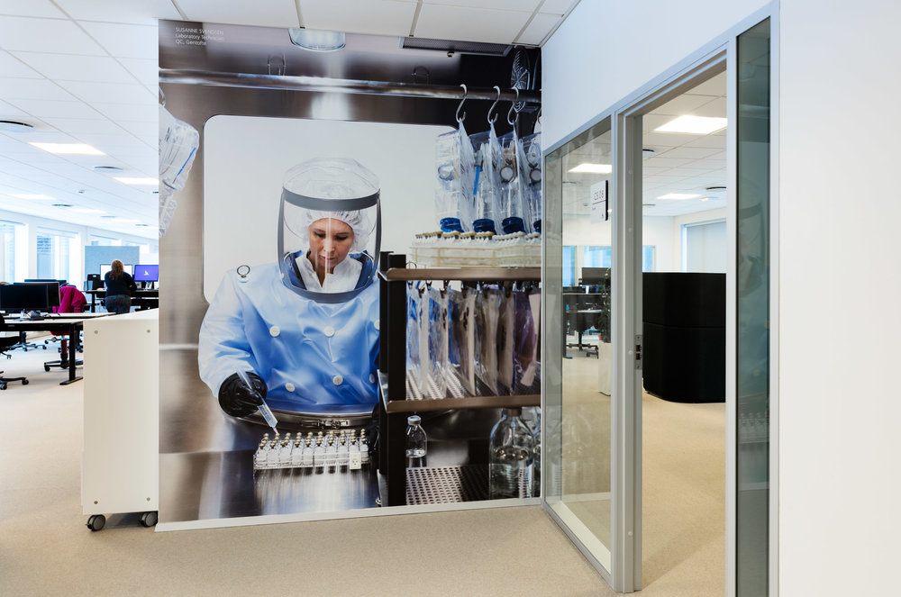 Imaging in large scale, where detail is of the uppermost importance. These are examples from a wall-folio assignment in close collaboration with Novo Nordisk/Biopharm.