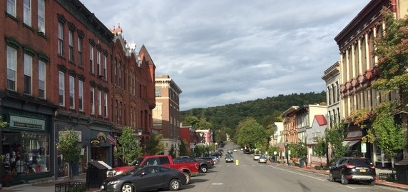 Downtown Cooperstown: The Sunny Side and the Money Side.