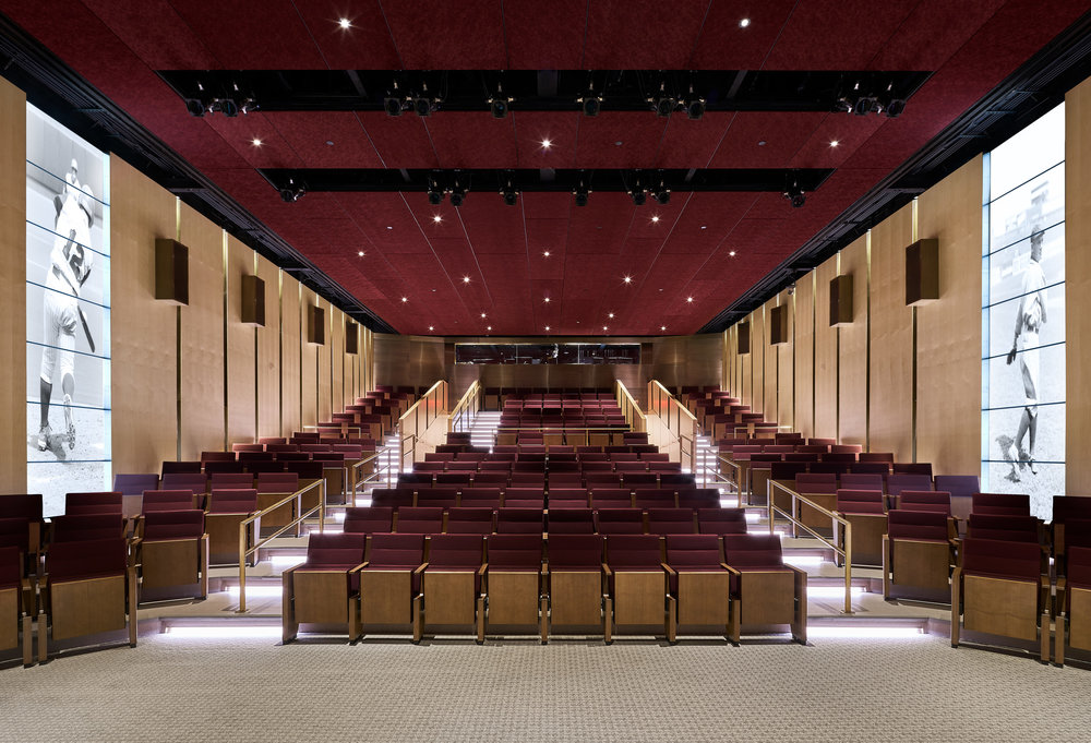 The new Grandstand Theater at the National Baseball Hall of Fame will be the site of three evening films. (Courtesy Populous)