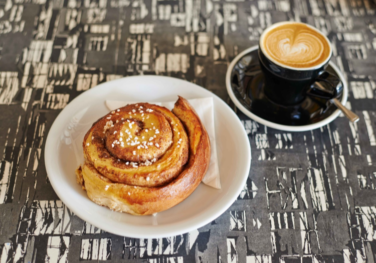 Mmmm cinnamon buns at Cooper & Wolf