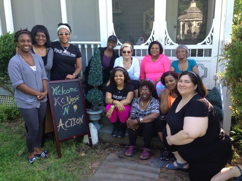 Yoga in Action group - Kansas City, MO (2016), led by Celestine & Amanda Muhammad
