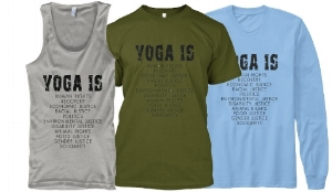 YOGA IS tank-tops and t-shirts - available until May 11