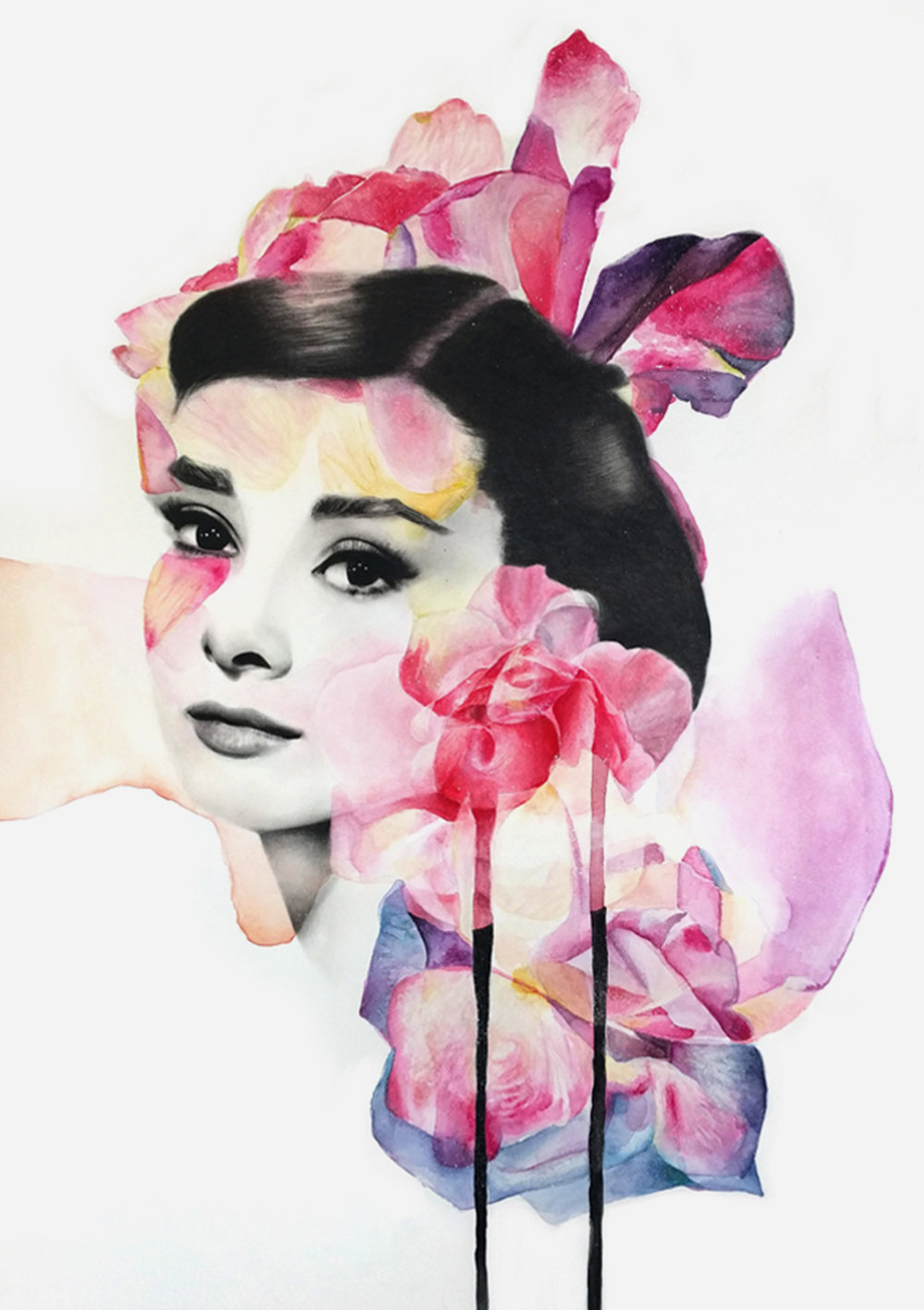 Pink Hepburn Kerry Beall Manchester Based Artist Beautiful