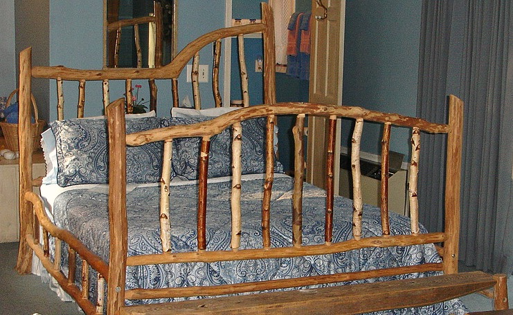 Birch Room with locally made, Queen sized, Birch bedframe