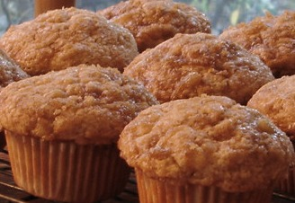 Homemade Ginger Pear Muffins at The White Rabbit Inn