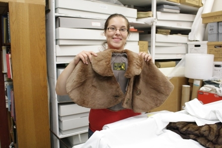Danielle with a fur made in La Crosse by Ed Bicha