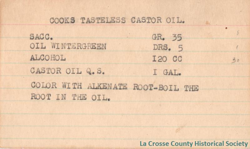 Cooks Tasteless Castor Oil