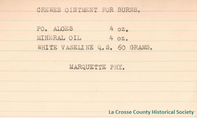 Crewes Ointment for Burns