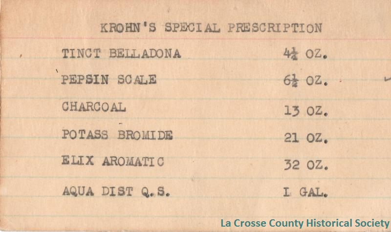 Krohn's Special Prescription