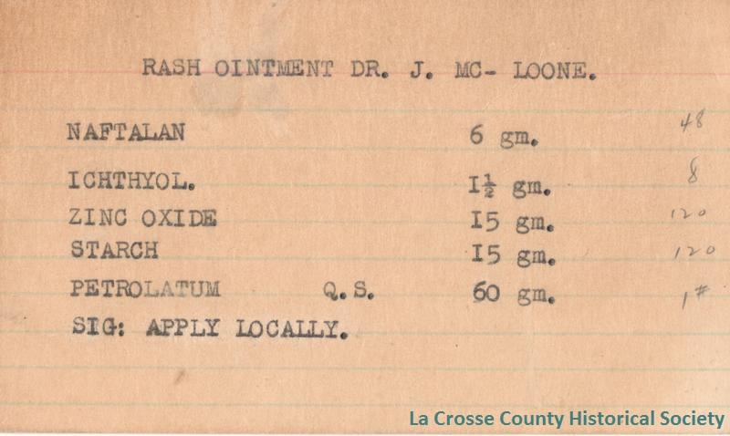Rash Ointment Dr. J. McLoone