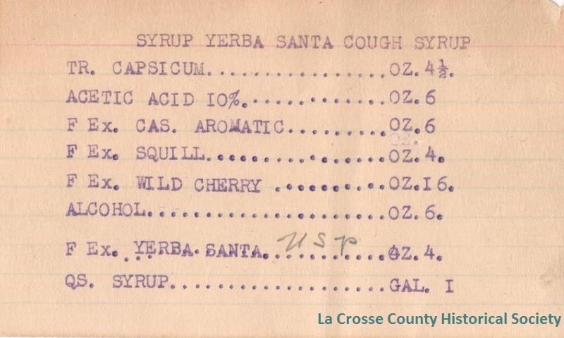 Syrup Yerba Santa Cough Syrup