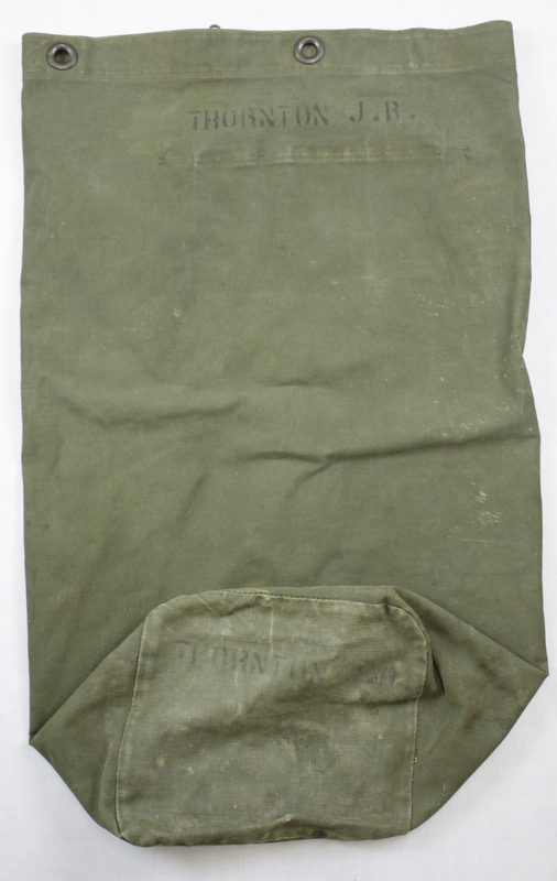 Korean War duffle of James Thornton.
