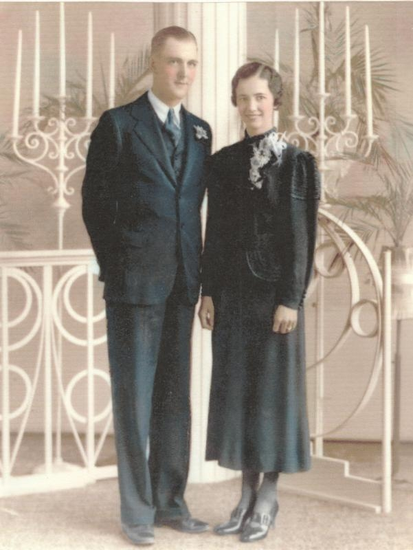 Wedding photo of Charlotte Eleda Olson and Wilbur Charles Welda