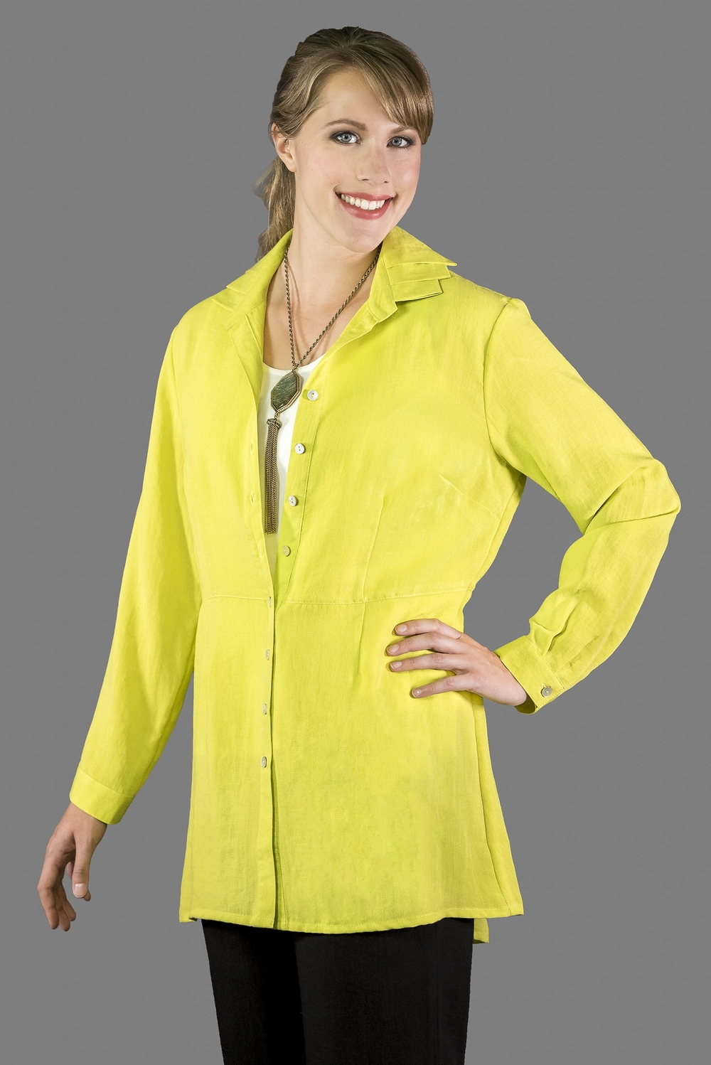 AA169 - Triple Collar Blouse    CL2593 - Citron