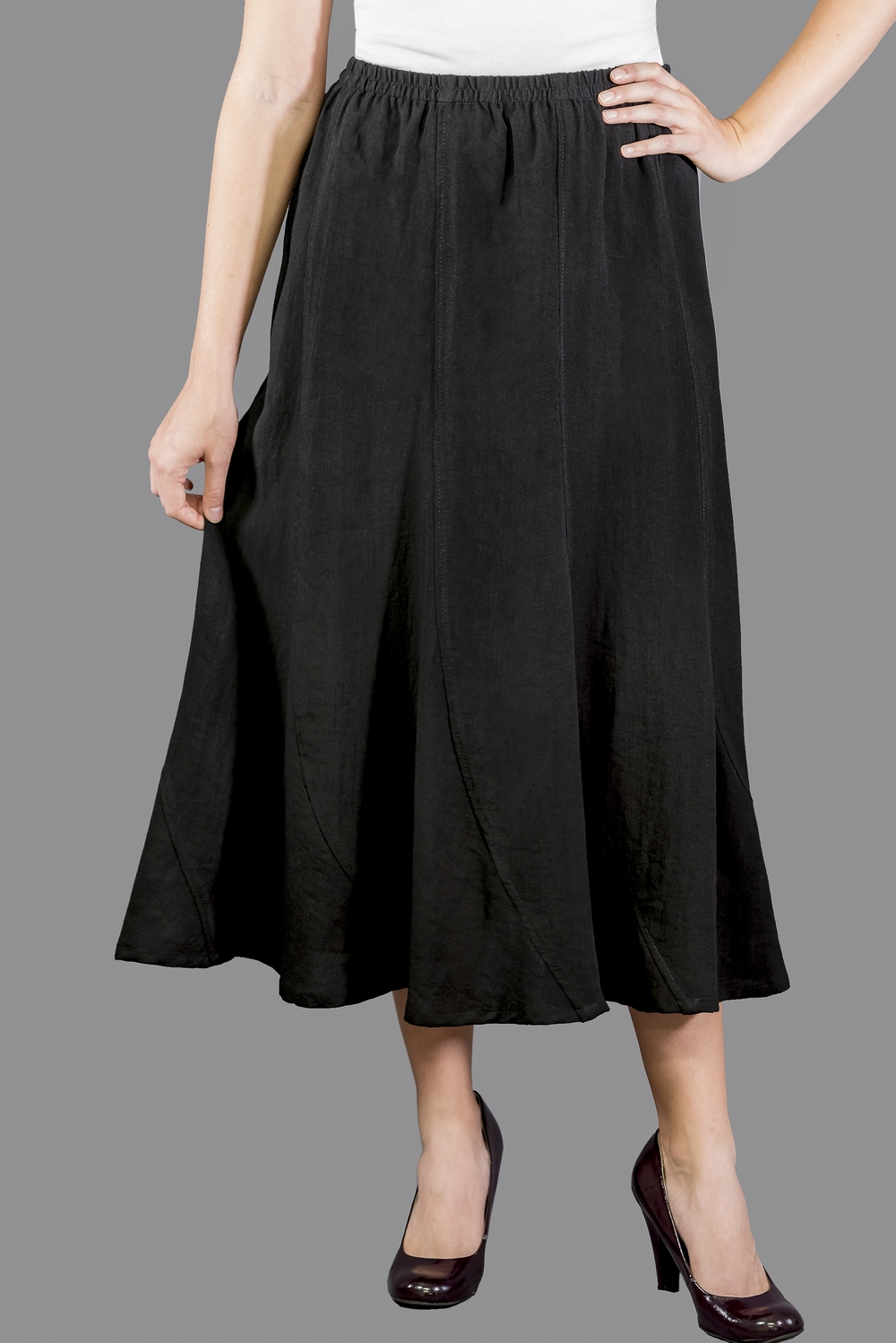AASK11 - Curved Panels Skirt    CL12 - Black