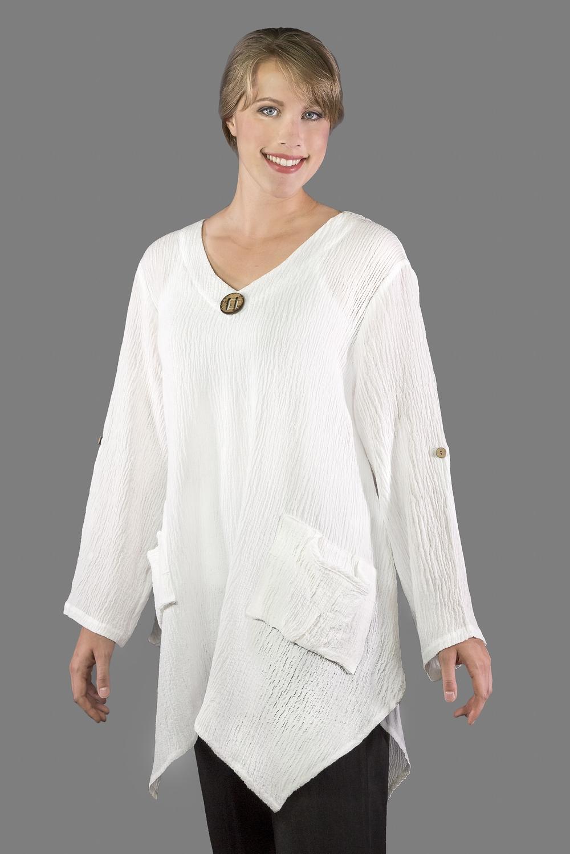 AA139 - Artist Pullover Tunic    TX10 - Textured White