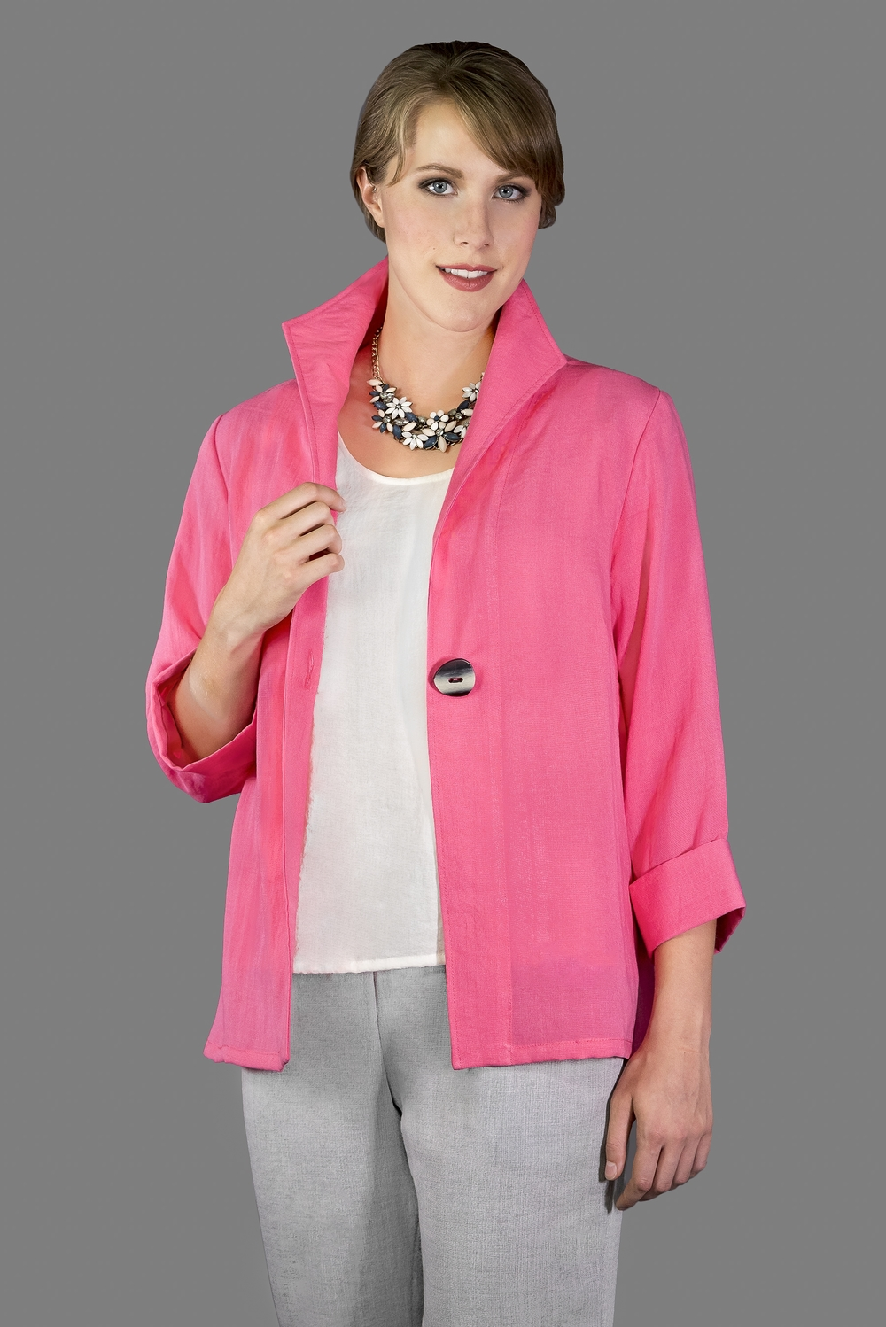 AA188 - One Button Short Jacket    CL3684 - Peony