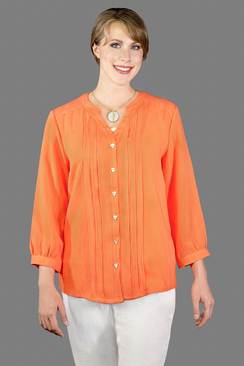 AA173 - Layered Pleats Top    CL3979 - Tangerine
