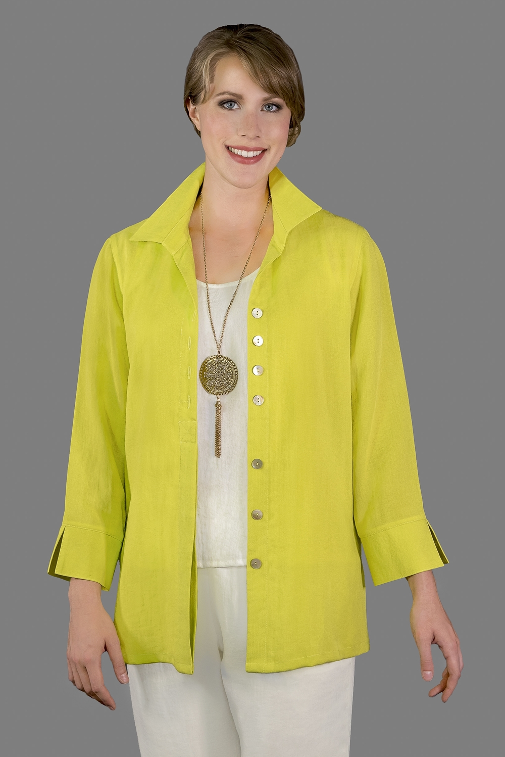 AA192 - Eleanor Blouse    CL2593 - Citron