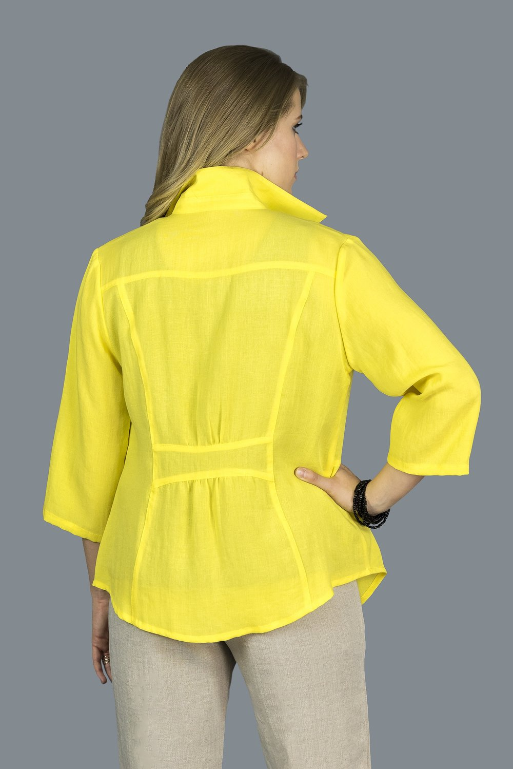 AA207 - Shirt with Banded Back    CL3981 - Daffodil