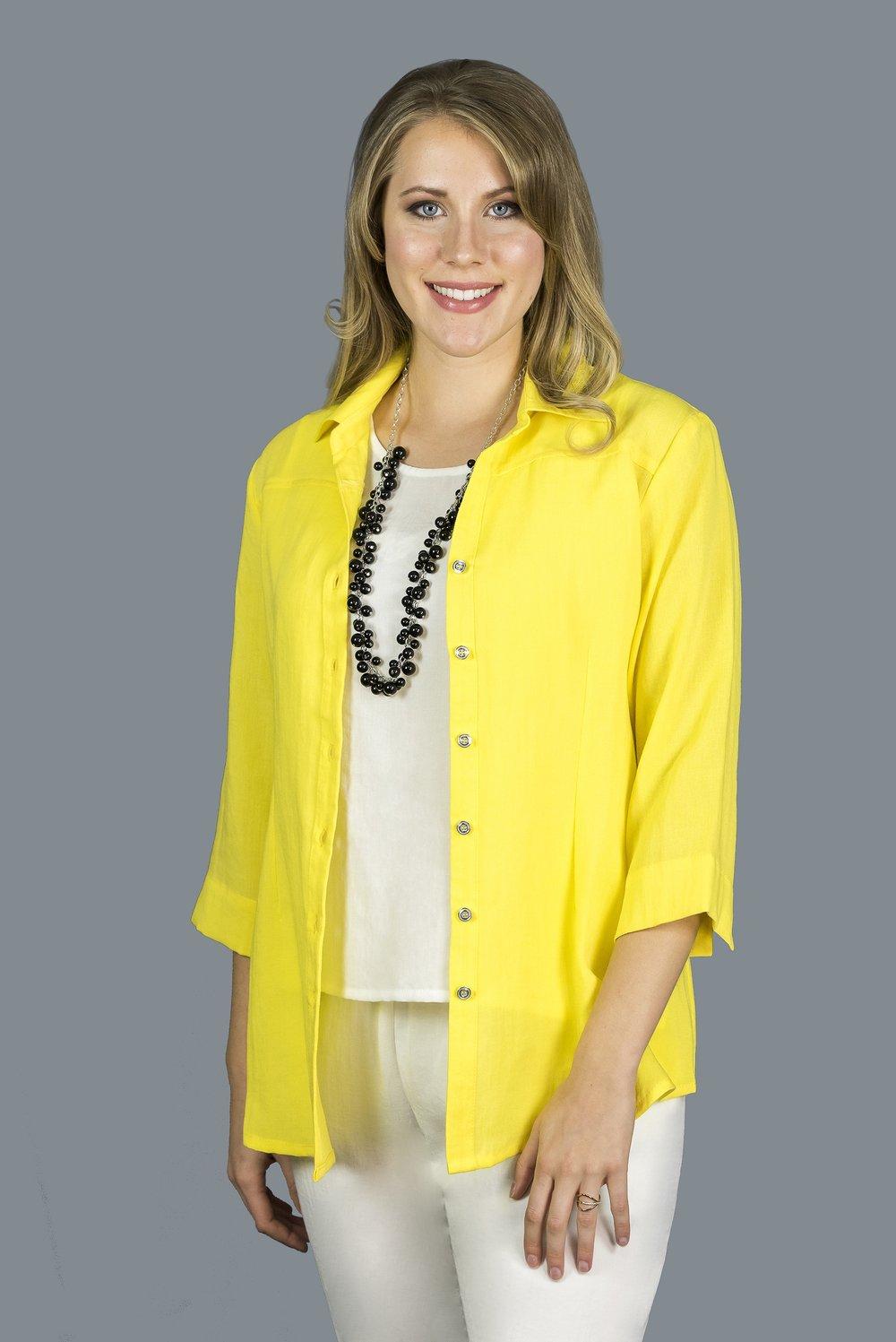 AA203 - Short Button Back Shirt    CL3981 - Daffodil