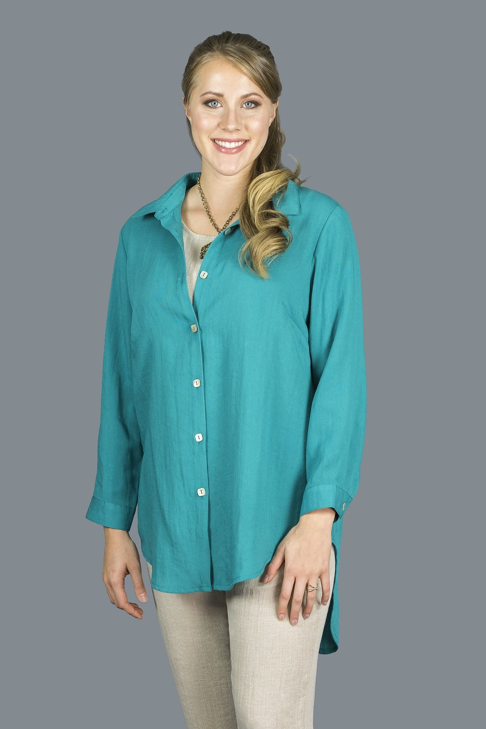 AA200 - Crossing Tails Blouse    CL5915 - Topaz