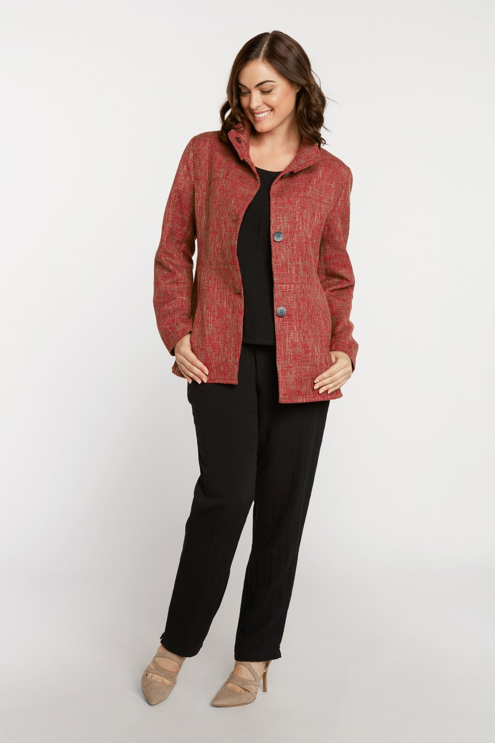AA8006 - Jacqueline Jacket    SG01 - Red & Tan