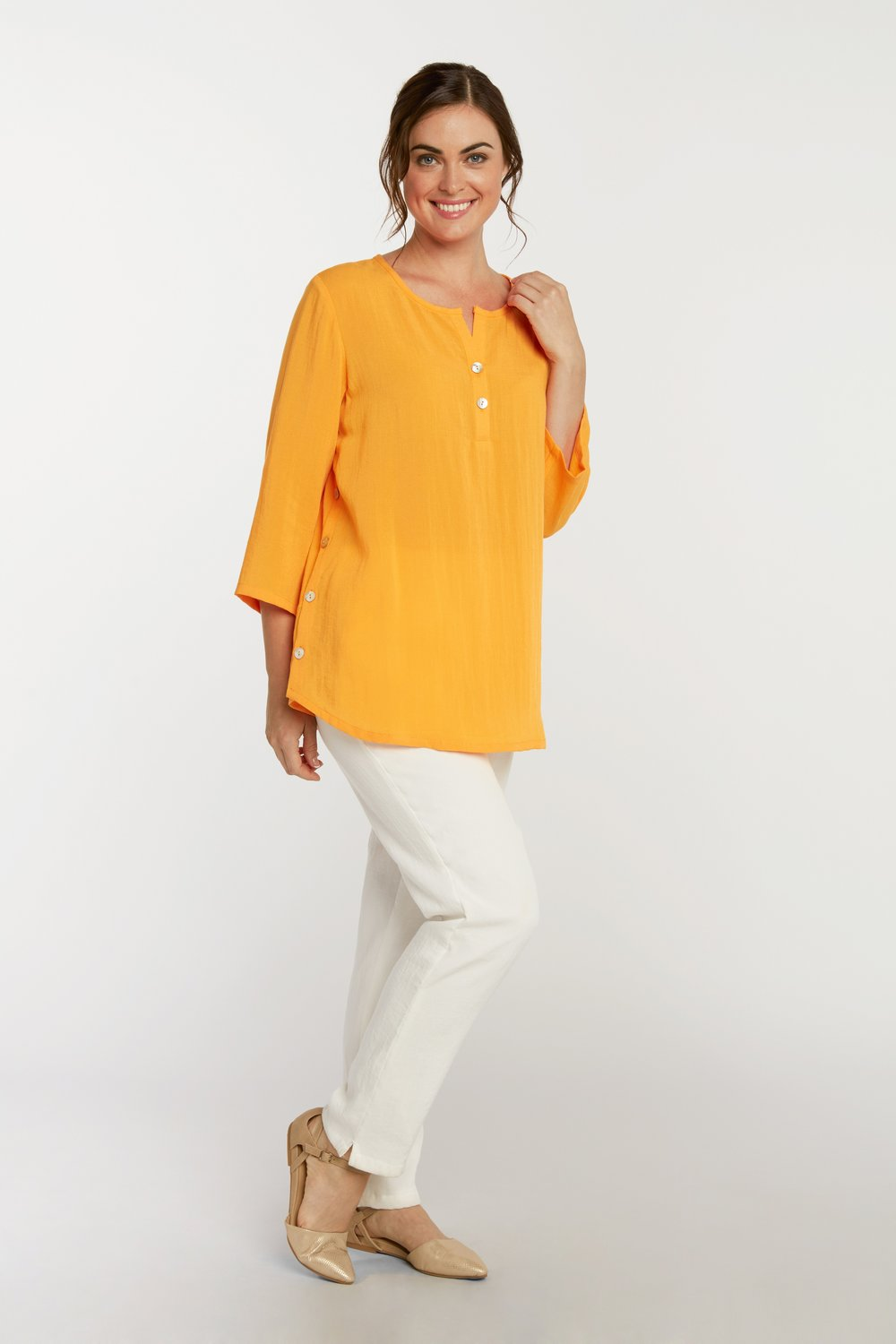 AA205 - Side Button Pullover    Mango - CL4921