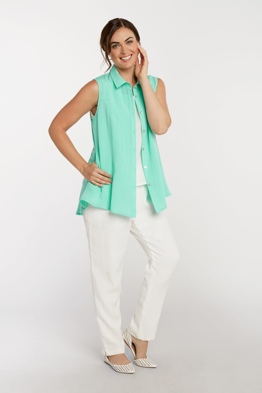 AA223 - Betty Button-Up Vest    Fiji - CL4917