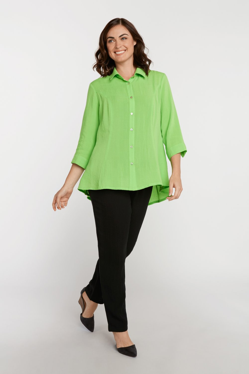 AA224 - Veronica Button-Up Blouse    Bali - CL2566