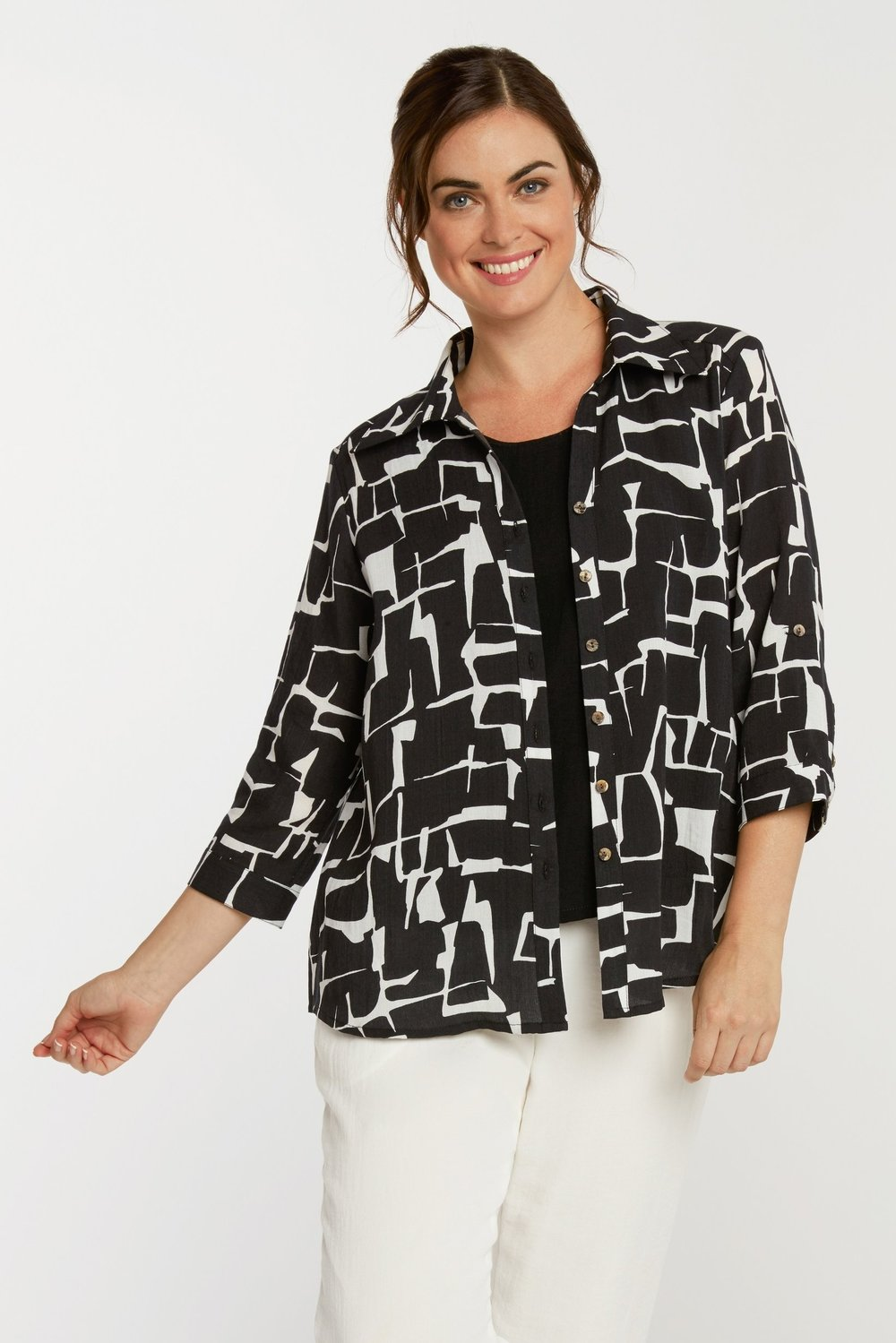 AA126 - Tuxedo Tail Blouse    CL9238 - Crackle