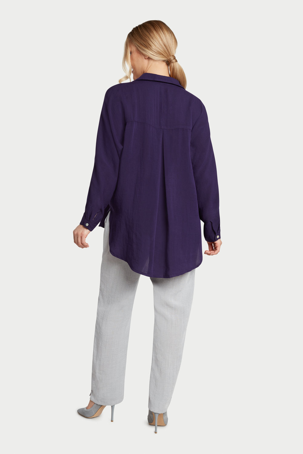 AA235 - Alice Dolman Shirt    Plum -   CL4395