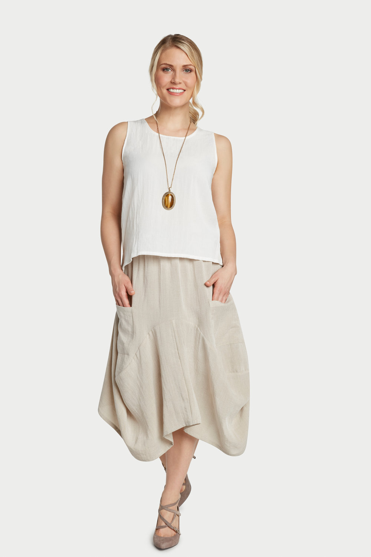 AASK12 - Bohemian Skirt    Sand - CL2215