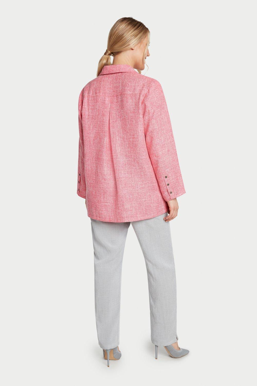 AA7059 - Fun Button Shirt    Pink/White Heathered - JC07